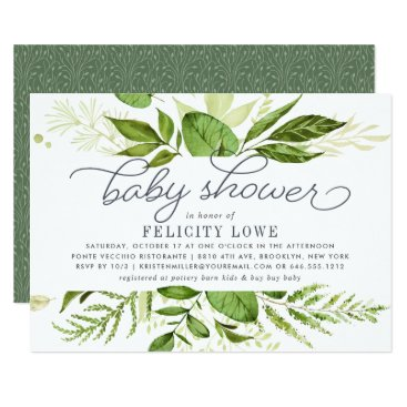 Toddler & Baby themed Wild Meadow Baby Shower Invitation
