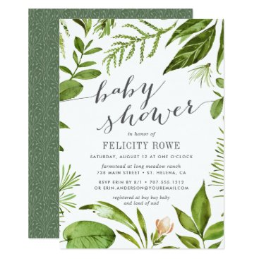 Toddler & Baby themed Wild Meadow | Botanical Baby Shower Invitation