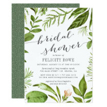 Wild Meadow   Botanical Bridal Shower Invitation