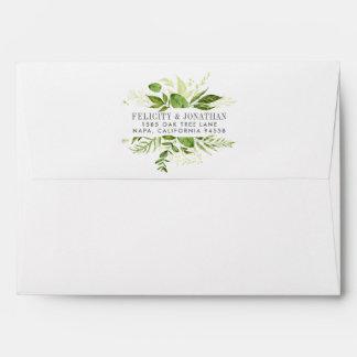 Wild Meadow | Botanical Frame Return Address Envelope