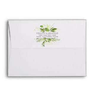 Wild Meadow | Botanical Frame Return Address Envelope