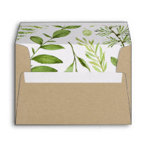 Wild Meadow | Botanical Kraft Return Address Envelope