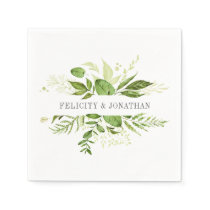 Wild Meadow | Botanical Personalized Wedding Napkin