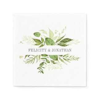 Wild Meadow | Botanical Personalized Wedding Napkin