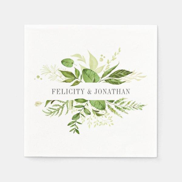 Wild Meadow   Botanical Personalized Wedding Napkin