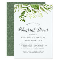 Wild Meadow Botanical Rehearsal Dinner Invitation