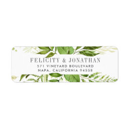 Wild Meadow | Botanical Return Address Label
