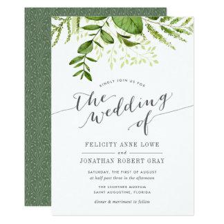 Wonderful Wild Meadow Botanical Wedding Invitation