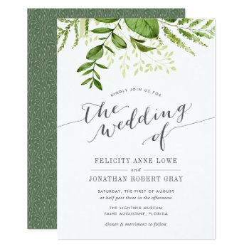 Wild Meadow Botanical Wedding Invitation by RedwoodAndVine at Zazzle