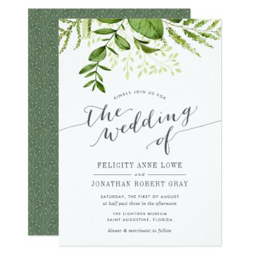 RedwoodAndVine Wild Meadow Botanical Wedding Invitation