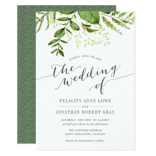 Wild Meadow Botanical Wedding Invitation Zazzlecom