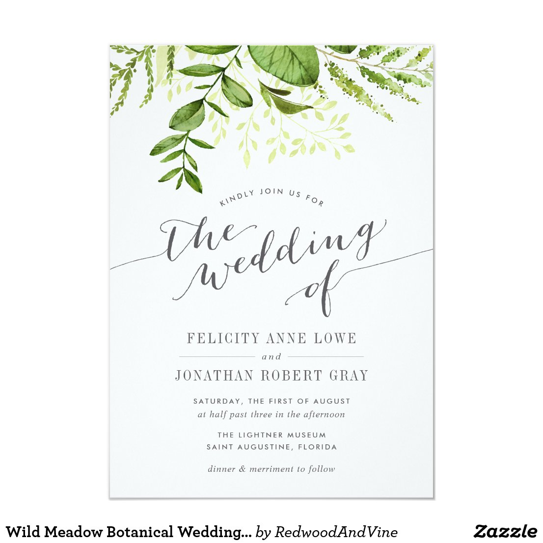 Botanical Wedding Invitation