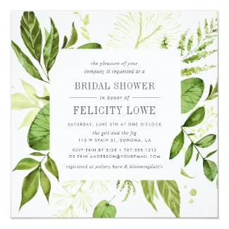 Wild Meadow Bridal Shower Invitation | Square