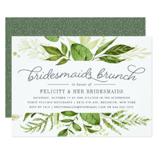 Wild Meadow Bridesmaids Brunch Invitation