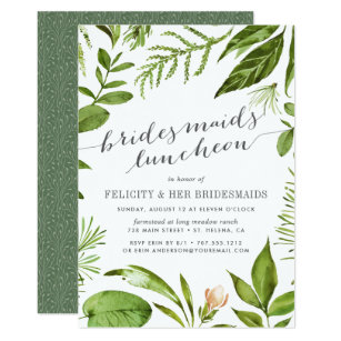 garden luncheon invitations zazzle