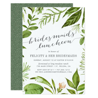 Wild Meadow Bridesmaids Luncheon Invitation