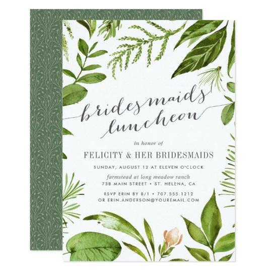 Wild Meadow Bridesmaids Luncheon Invitation Zazzle Com
