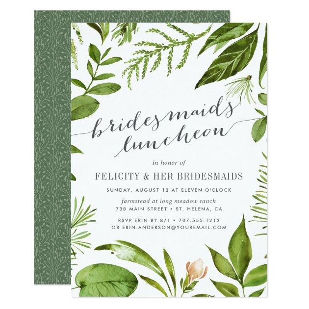 Wild Meadow Bridesmaids Luncheon Invitation Zazzlecom