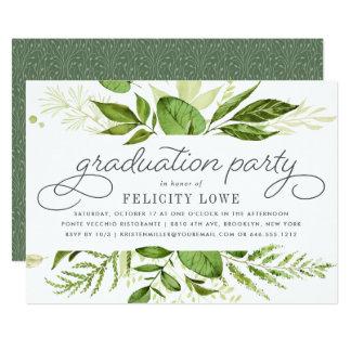 Wild Meadow Graduation Party Invitation