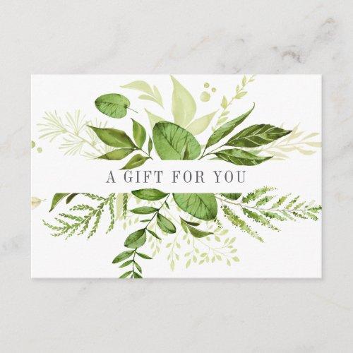 Wild Meadow  Green Botanical Gift Certificate