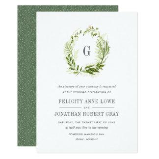 Wild Meadow Monogram Wedding Invitation