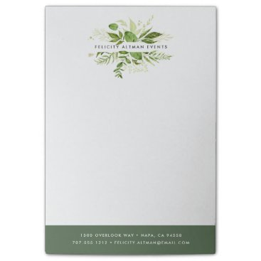 Professional Business Wild Meadow Personalized Business Post-it Notes
