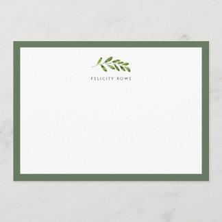 Wild Meadow Personalized Stationery Flat Card
