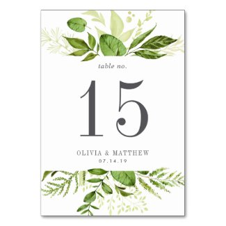 Wild Meadow | Personalized Table Number Card