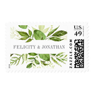 Wild Meadow Personalized Wedding Postage