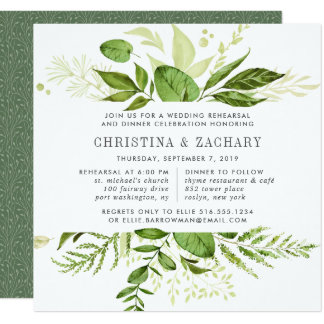 Wild Meadow Rehearsal Dinner Invitation | Square