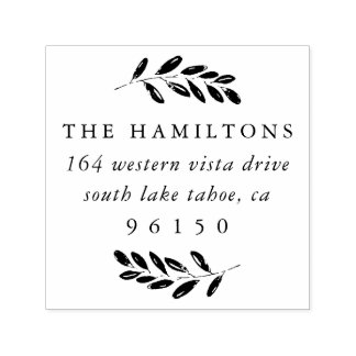 Wild Meadow Return Address Self-inking Stamp