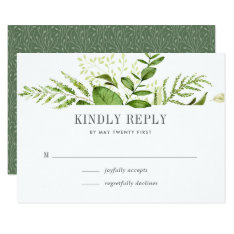 Wild Meadow Rsvp Card at Zazzle