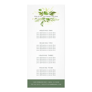 Wild Meadow | Services or Price List Rack Card