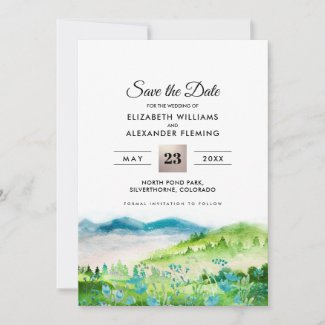 Wild Meadow | Spring Mountains Save the Date Cards