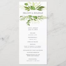 Wild Meadow Wedding Ceremony Program