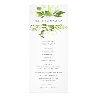 Wild Meadow Wedding Ceremony Program
