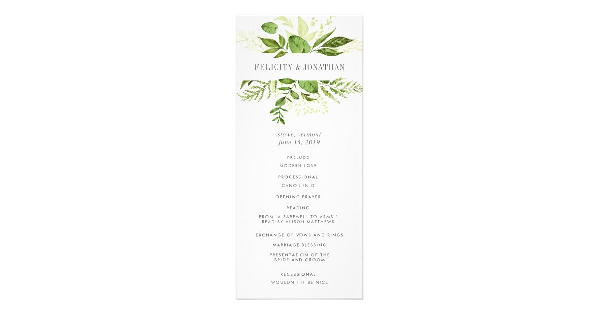 Wedding Programs | Zazzle