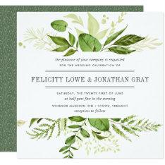 Wild Meadow Wedding Invitation | Square at Zazzle
