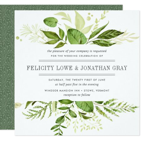 Wild Meadow Wedding Invitation   Square