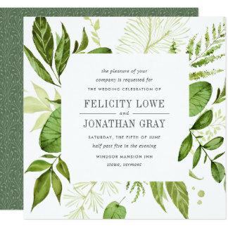 Wild Meadow Wedding Invitation | Square