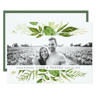 Wild Meadow | Wedding Photo Flat Thank You Card