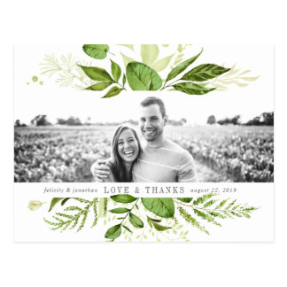 Wild Meadow | Wedding Photo Thank You Postcard
