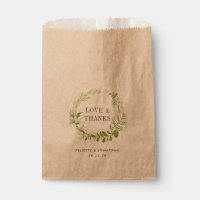 Wild Meadow Wedding Thank You Favor Bag