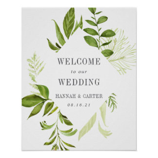 Wild Meadow Wedding Welcome Poster