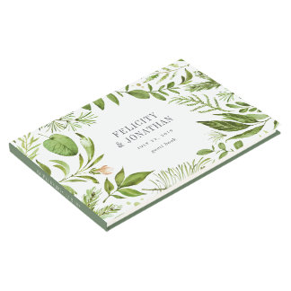 Wild Meadow Wreath | Wedding Guest Book
