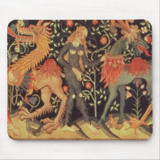 Wild Men and Animals, tapestry, 15th century Mouse Pad