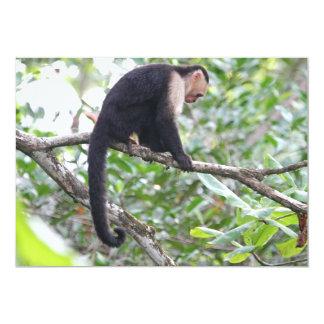 Wild Monkey Picture 5x7 Paper Invitation Card