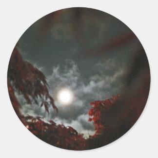 Wild Moon Classic Round Sticker