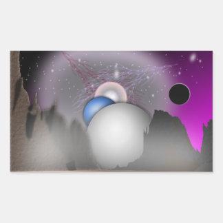 Wild Moon Space Art - Sticker