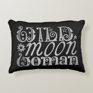 Wild Moon Woman Decorative Pillow